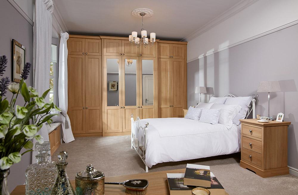 stylish oak bedroom